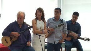 Domingo Rdez, Marga Abreu, Benito Cabrera y Tomás Fariña