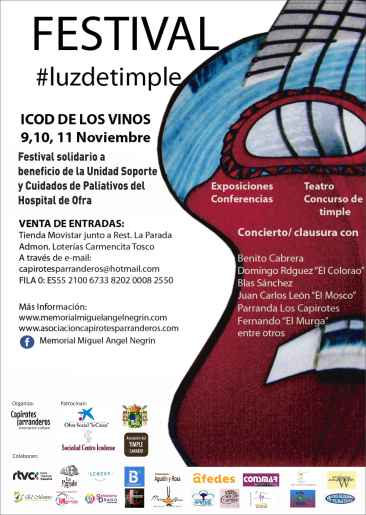 cartel semana del timple icod 2017 nov